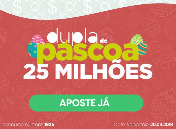 Dupla-Sena de Páscoa 2019