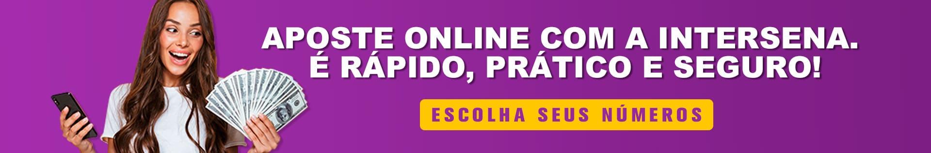 Aposte online na Lotofácil com a Intersena
