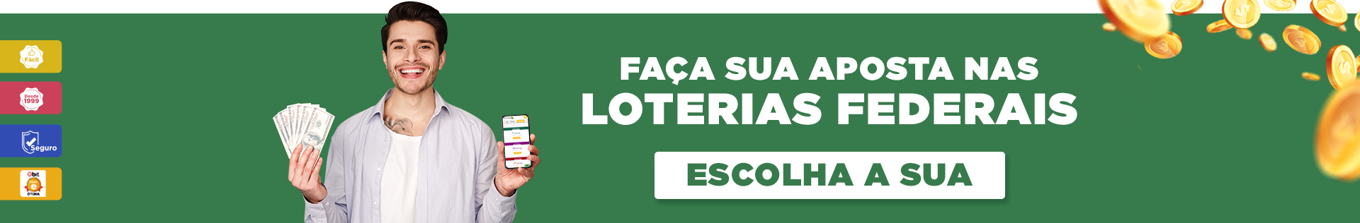 Aposte Online nas Loterias Federais