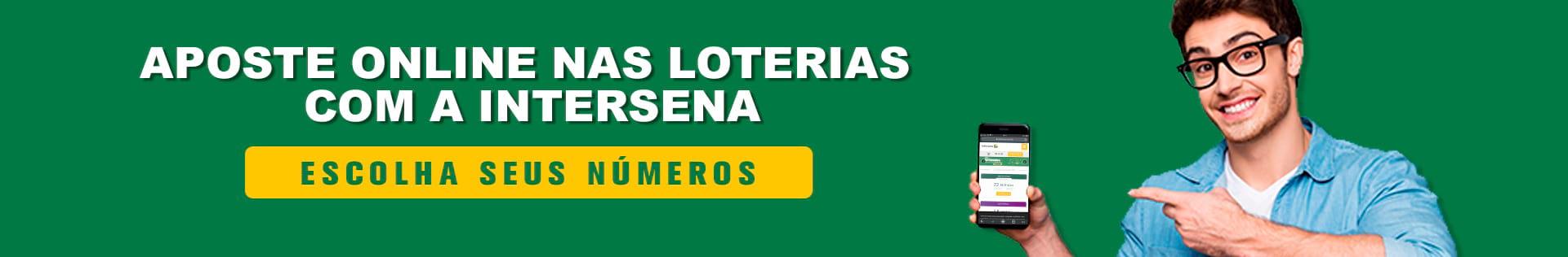Aposte nas loterias online com a Intersena